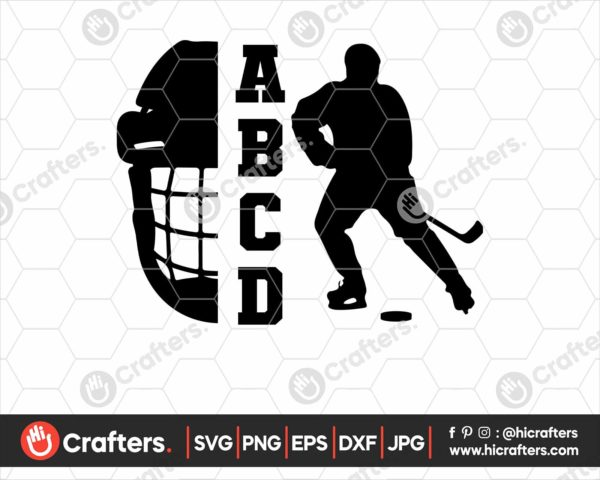 138 hockey svg for cricut