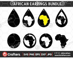 144 African Earrings SVG