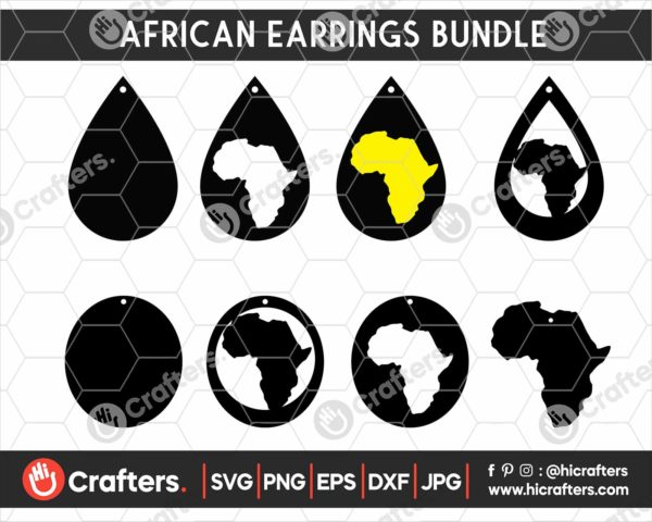 144 African Earrings SVG