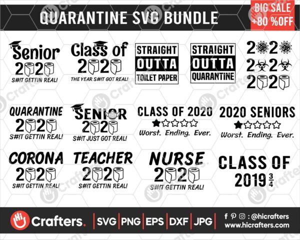 186 Quarantine SVG Bundle For Cricut