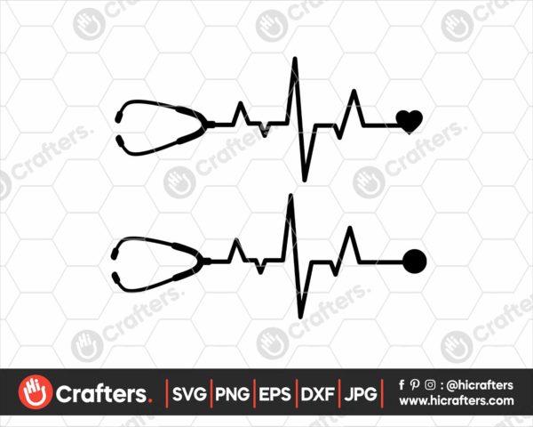 161 Nurse Heartbeat SVG For Cricut