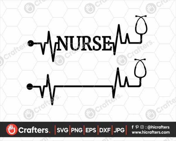163 Nurse Shirt SVG Nurse Stethoscope SVG