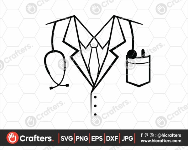 170 Doctor Scrub SVG Doctor SVG