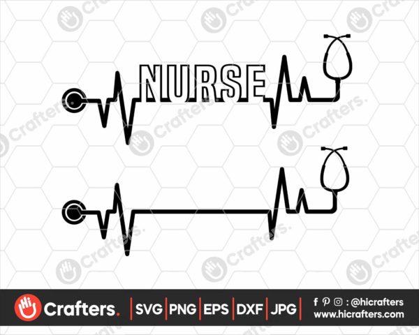 179 Heartbeat Stethoscope SVG