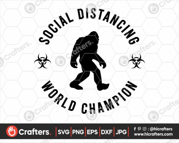 206 Social Distancing Champion Svg