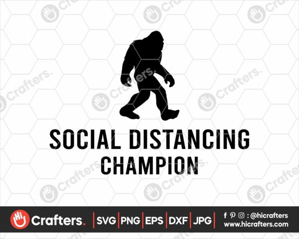 207 Social Distancing Champion Svg
