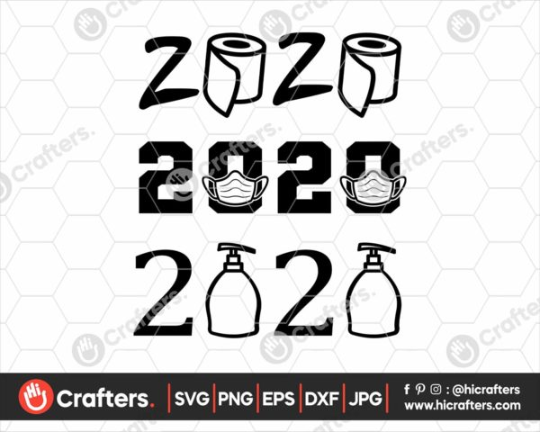 216 2020 SVG with Mask 2020 Toilet Paper SVG