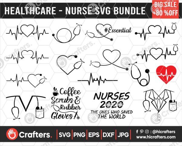 221 Nurse SVG Bundle