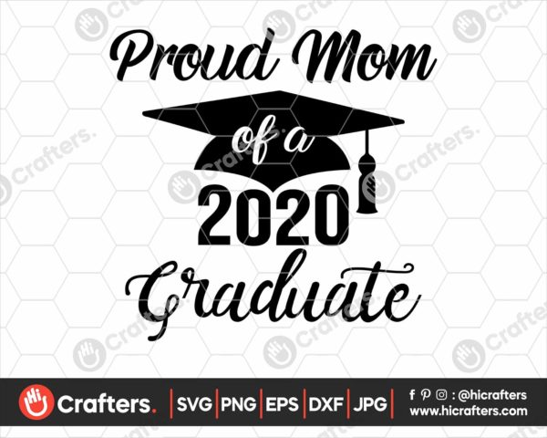 228 proud mom of a 2020 graduate svg png
