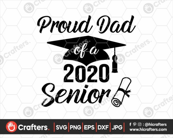 230 proud dad of a 2020 senior svg png