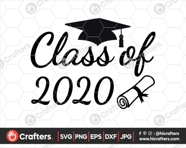 237 Class Of 2020 SVG Senior Graduation Yard Sign SVG