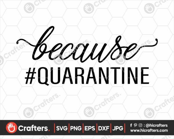 243 Because Quarantine SVG