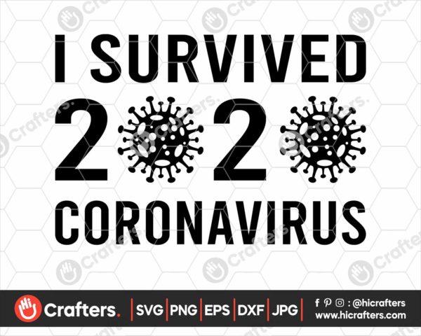 259 I Survived 2020 Corona SVG