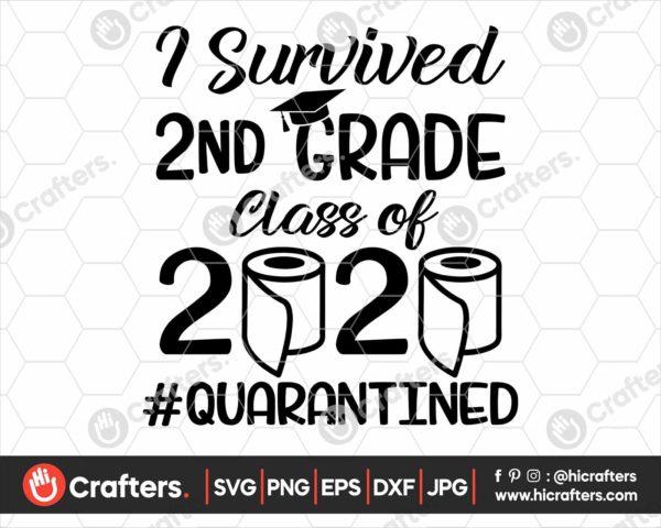 274 I Survived 2nd Grade Quarantine SVG Class Of 2020 SVG PNG