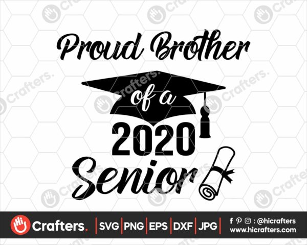281 Proud brother of a 2020 Senior SVG PNG