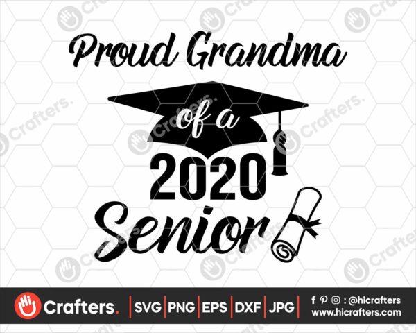 284 Proud Grandma of a 2020 Senior SVG PNG