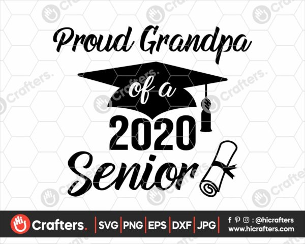 285 Proud Grandpa of a 2020 Senior SVG PNG