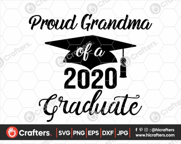 290 Proud Grandma of a 2020 Graduate SVG PNG