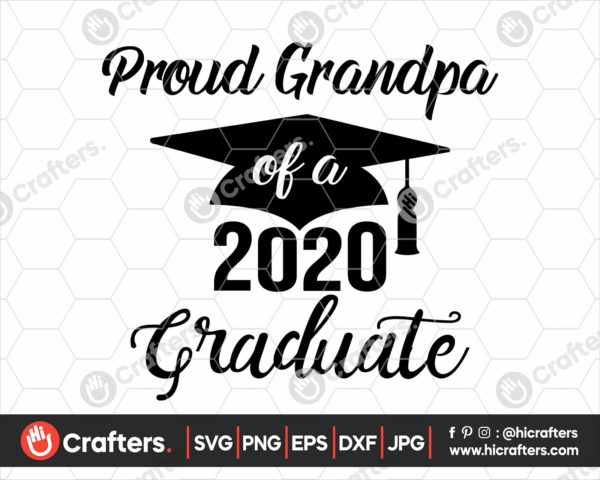 291 Proud Grandpa of a 2020 Graduate SVG PNG