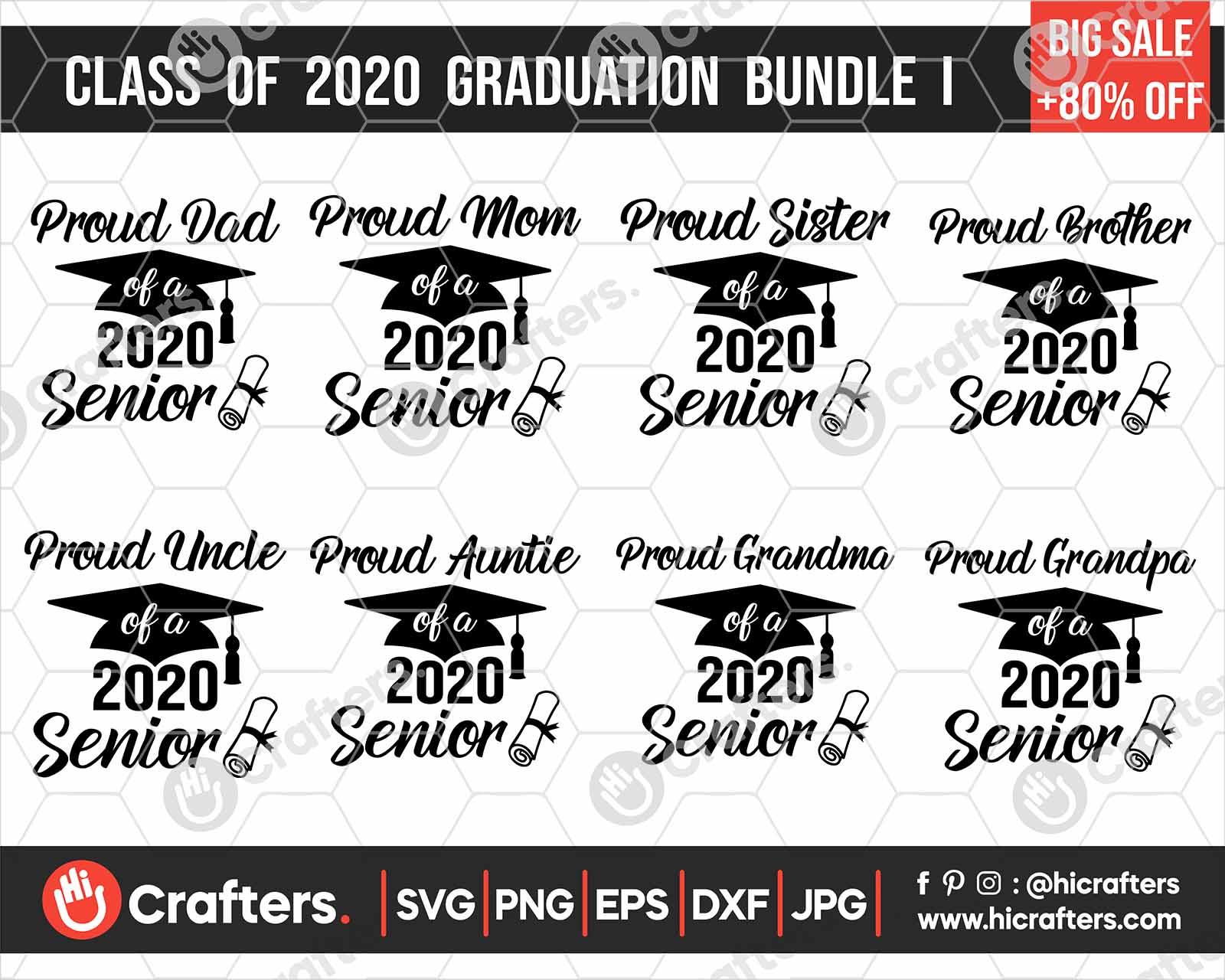 Seniors 2020 Graduation Svg Bundle Hi Crafters