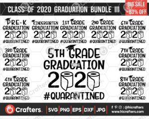 296 2020 Graduation SVG Bundle For Cricut