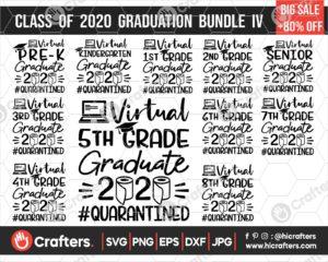297 virtual graduation svg bundle