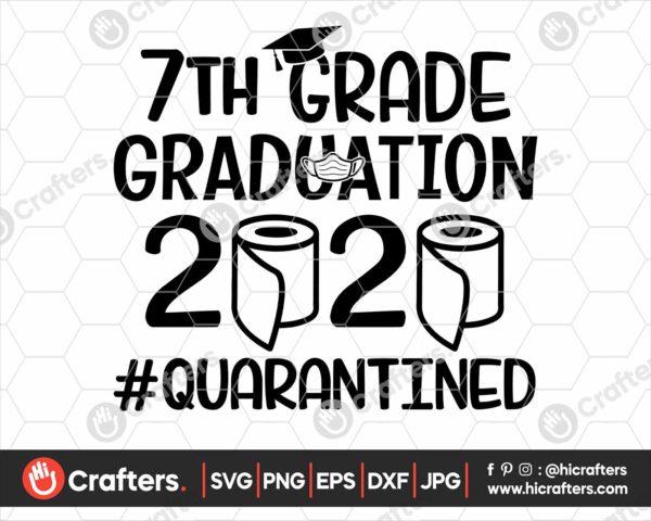 309 7th Grade Graduation SVG 7th Grade 2020 Quarantine SVG