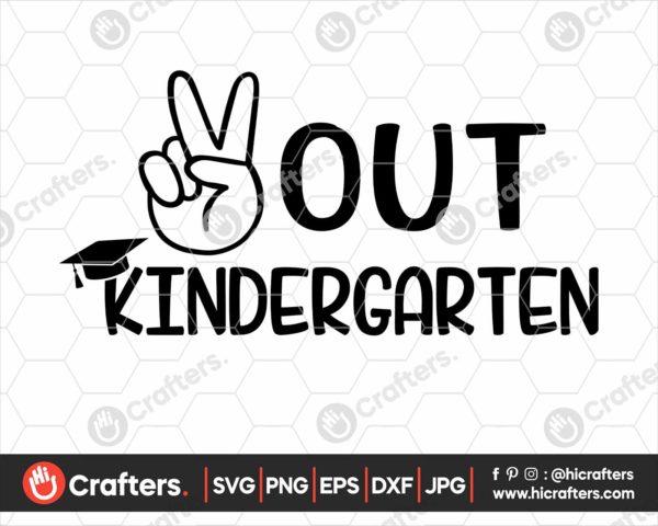 323 peace out kindergarten svg kindergarten graduation svg png