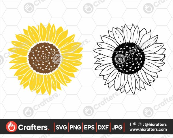 350 Sunflower SVG Cut File For Cricut and Silhouette