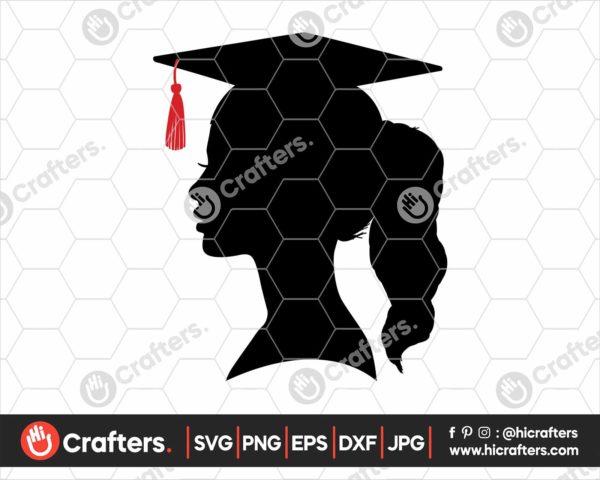 356 graduate silhouette svg graduate girl svg