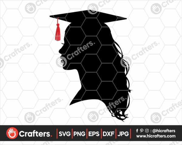 358 graduate girl svg graduate silhouette svg