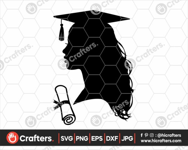 359 graduated svg graduate silhouette svg For Girls