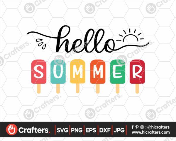361 Hello Summer Popsicle SVG Hello Summer SVG PNG