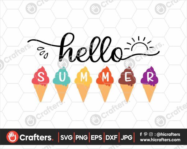 362 Hello Summer SVG Hello Summer Popsicle SVG PNG