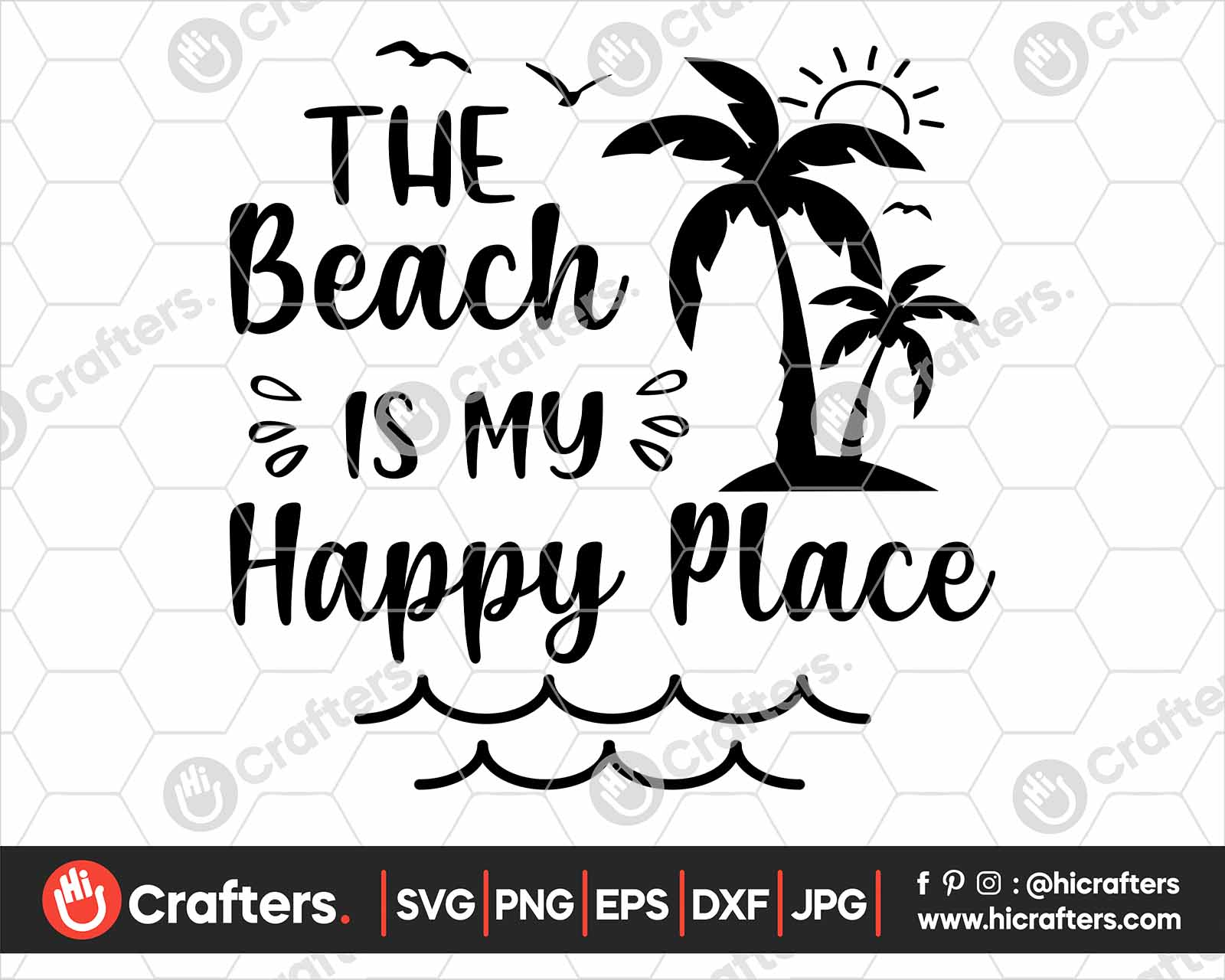 The Beach Is My Happy Place Svg Png For Cricut Hi Crafters