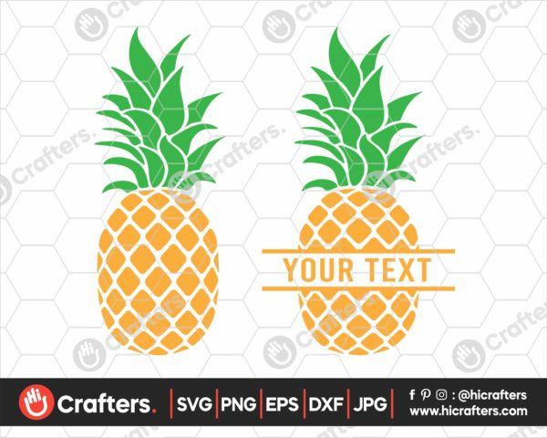 377 Pineapple SVG Split Pineapple SVG PNG