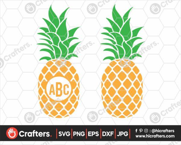 378 Pineapple SVG Pineapple Monogram SVG PNG