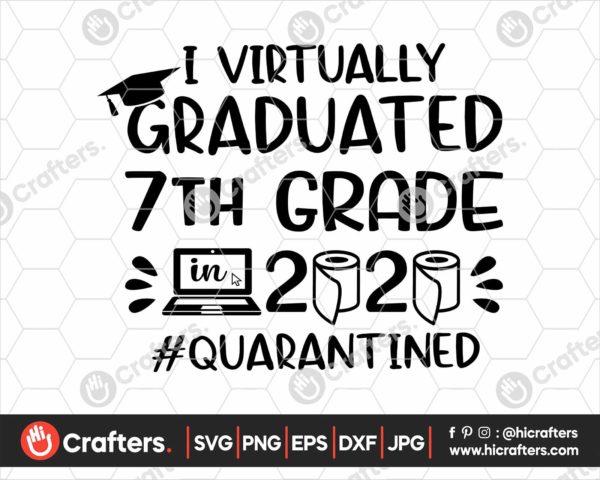 390 I Virtually Graduated 7th Grade Svg 7th Grade Graduation svg