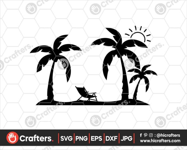 426 Palm tree svg Summer svg