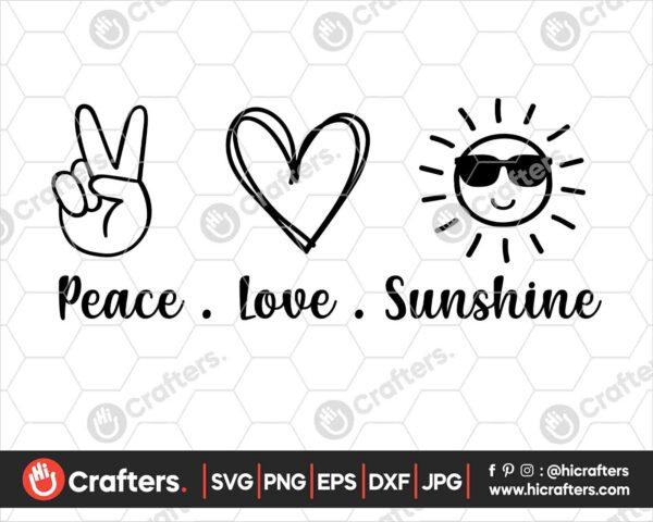 429 peace love sunshine svg