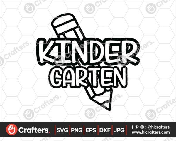 433 Kindergarten SVG Back to school svg for cricut