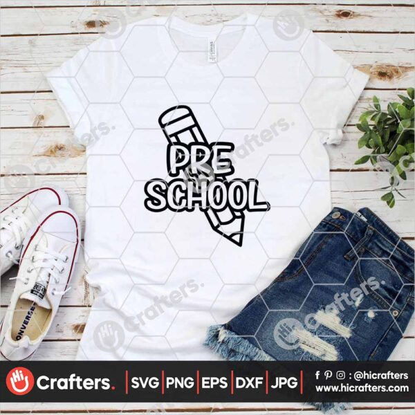 434 1st day of school svg Preschool svg for cricut