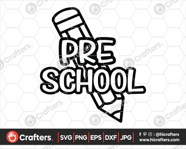 434 Preschool SVG Back to school svg for cricut