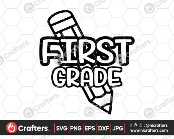 435 1st Grade SVG Back to school svg for cricut