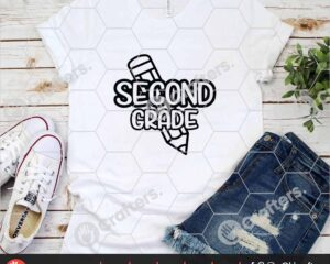 436 1st day of school svg Second Grade svg for cricut