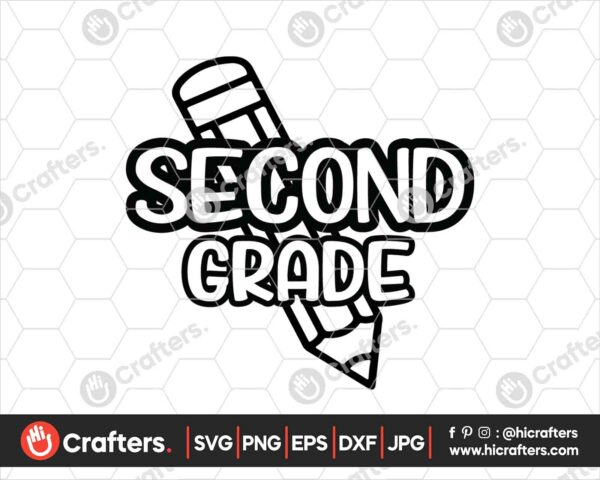 436 2nd Grade SVG Back to school svg for cricut