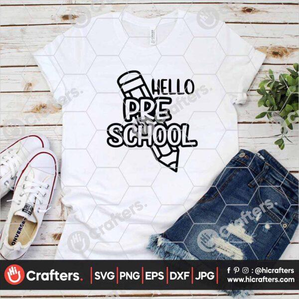 443 Preschool SVG Preshool Teacher SVG PNG For Cricut