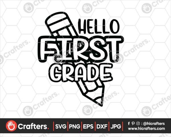 444 Hello 1st Grade SVG PNG 1st Grade Teacher SVG