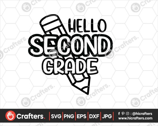 445 Hello 2nd Grade SVG PNG 2nd Grade Teacher SVG