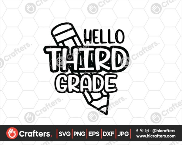 446 Hello 3rd Grade SVG PNG 3rd Grade Teacher SVG